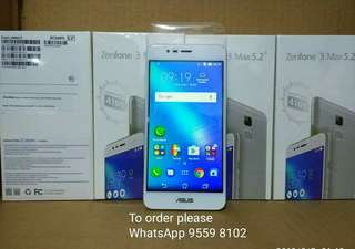 "Asus Zenfone 3 Max 5.2"", 2G RAM +16G ROM Global Version。Price fixed"