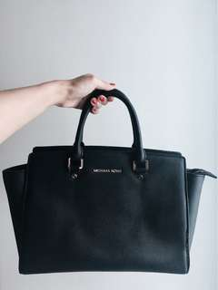 Michael Kori Preloved Black Selma Satchel