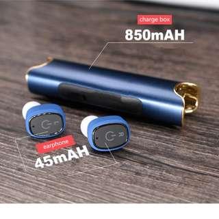【人氣商品】藍芽雙耳無線耳機 IPX7防水 可作外置電池 分離式真無線耳機 金屬拉絲質感 NCC形式認證 bluetooth handsfree earphone