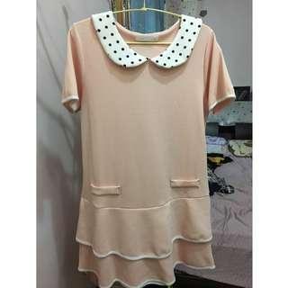 🚚 可愛點點領質感日系洋裝
