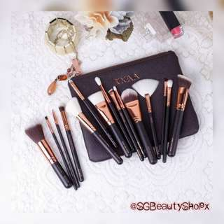 *Restocked💄💌 FREE Normal Mail † ZOEVA †⊷† 15pcs Rose Gold Brushes Complete Set With Zoeva Pouch ⊷⊷⊷⊷⊷⊷⊷⊷⊷†
