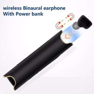 【店長推介】藍芽雙耳無線耳機 IPX7防水 可作外置電池 分離式真無線耳機 金屬拉絲質感 NCC形式認證 bluetooth handsfree earphone