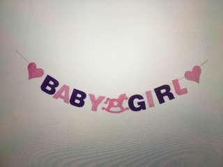 Good condition Full Month/Baby Shower Baby Girl banner