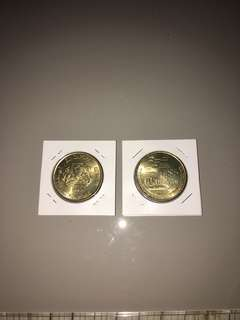 1990 $5 coin For Commemorating 25 years of Singapore independence