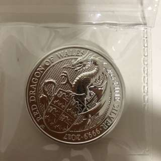 2017 uk beast series red dragon - 2 oz