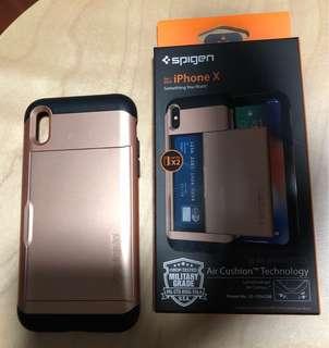 Spigen iPhone X case blush gold