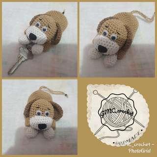 Crochet Dog Key Cover