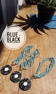 Beads Necklace Blue-Black