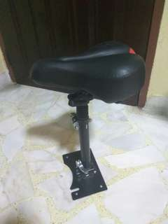 Electric Scooter seat suspension cushion with mount post plate