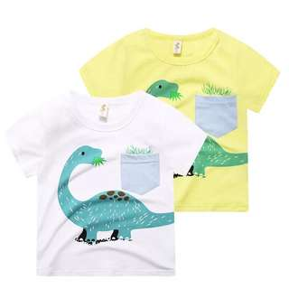 Kids Boy Dinosaur Casual Comfy Tee Top