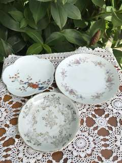 Vintage plates set of 3pcs