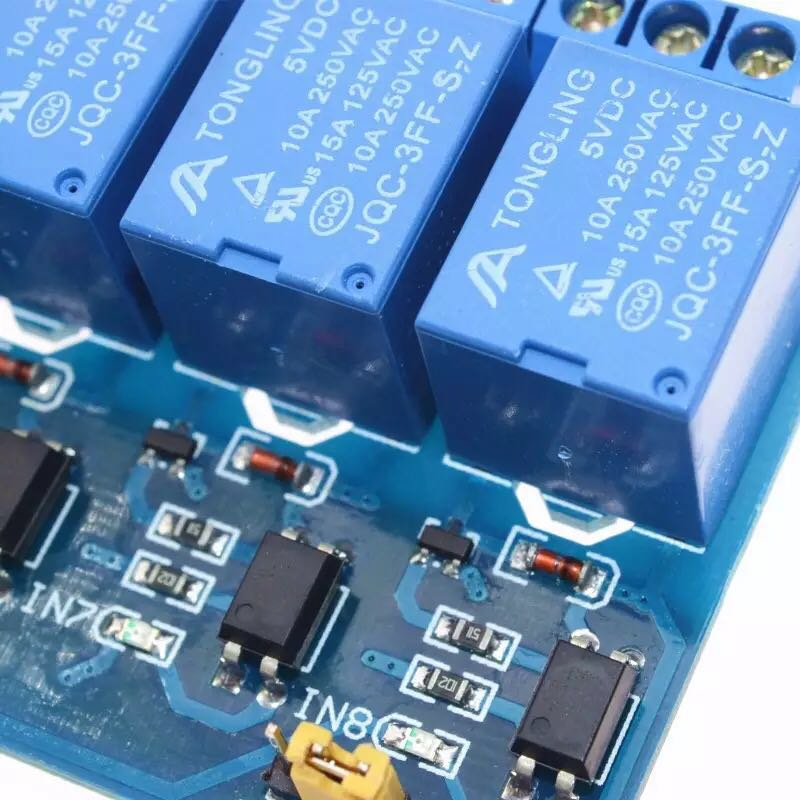8-channel relay control panel PLC relay 5V module for