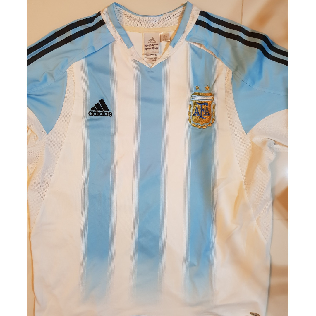 14d940b90ac5e Adidas Argentina World Cup Blue/White Shirt / Jersey - M, Sports ...