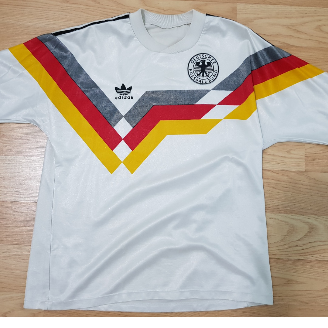 separation shoes 18be9 002b7 Adidas Germany 1990 World Cup Shirt / Jersey - M, Sports ...
