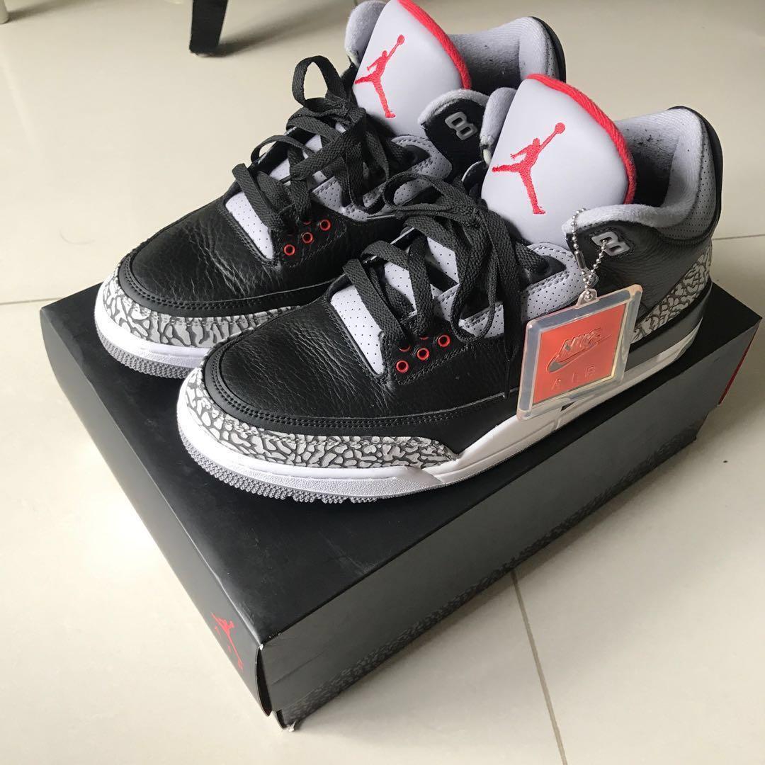 e064e9bd0bf1 Air Jordan 3 Retro OG Black Cement 2018