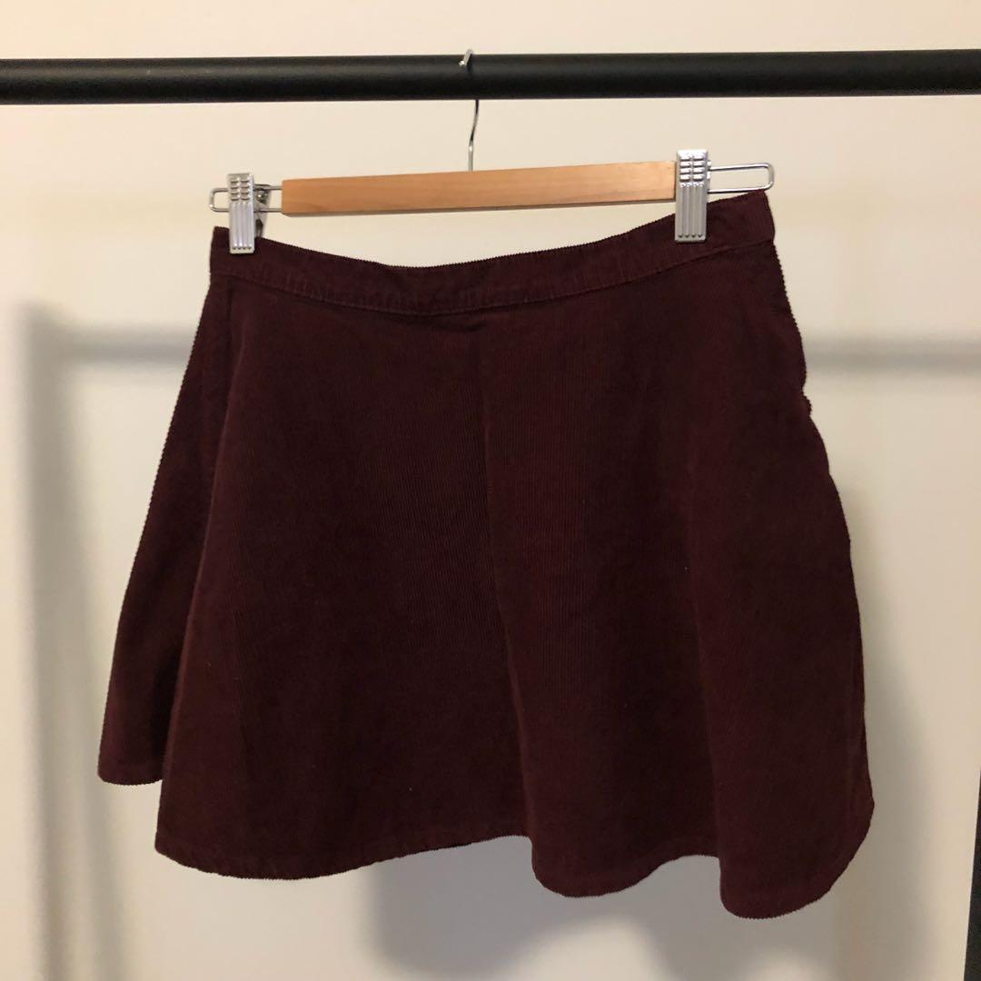 American Apparel Corduroy Circle Skirts