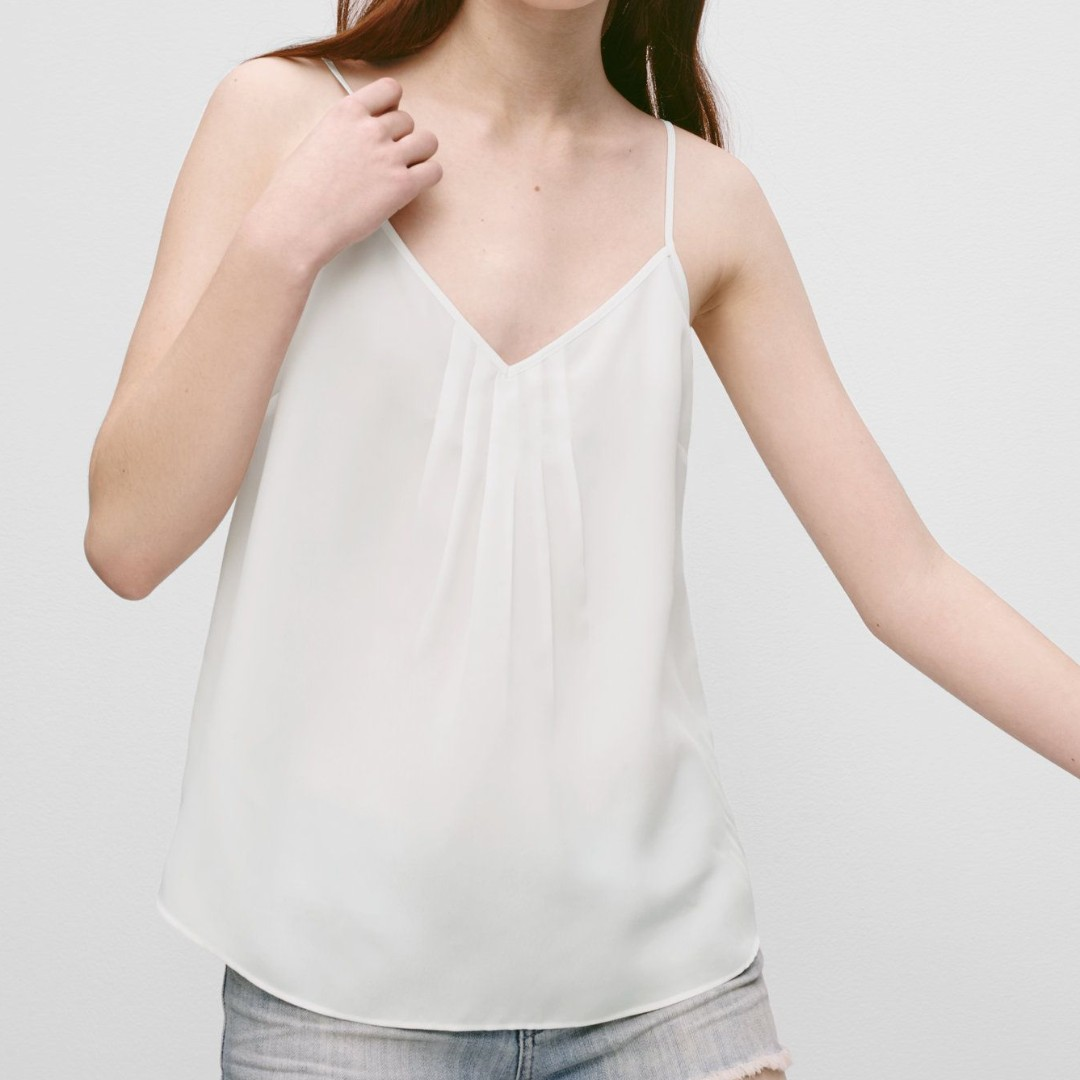 Aritzia Talula Waverly Blouse Tank White XXS