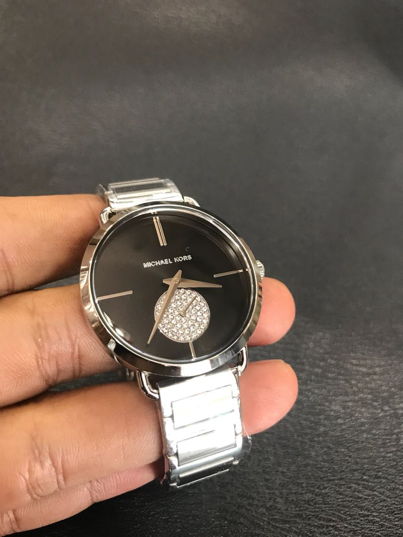 757974bf6e34 Brand NEW Michael Kors Portia Black Dial MK3638 Steel Watch with ...