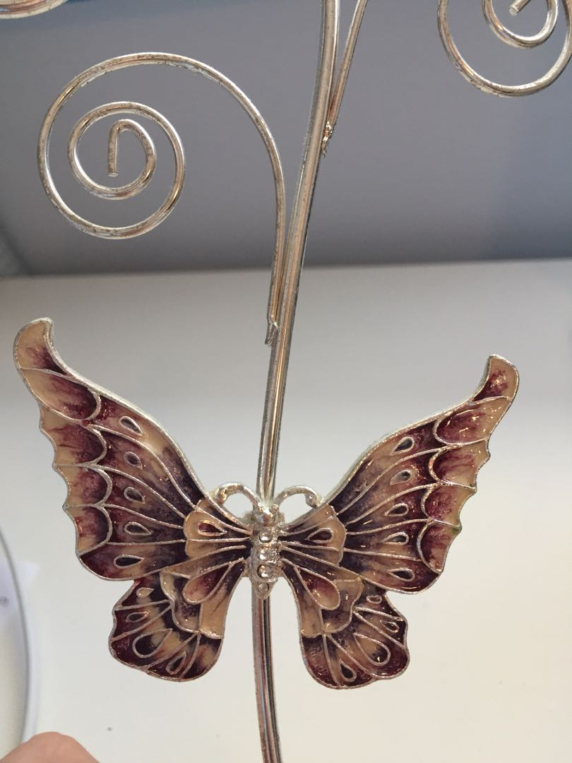 Butterfly jewellery stand