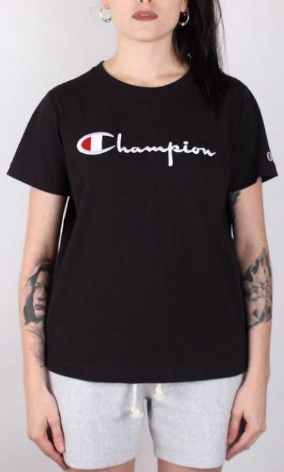 9912a08a CHAMPION Women's Reverse Weave Crewneck T-shirt - Embroidered Script ...