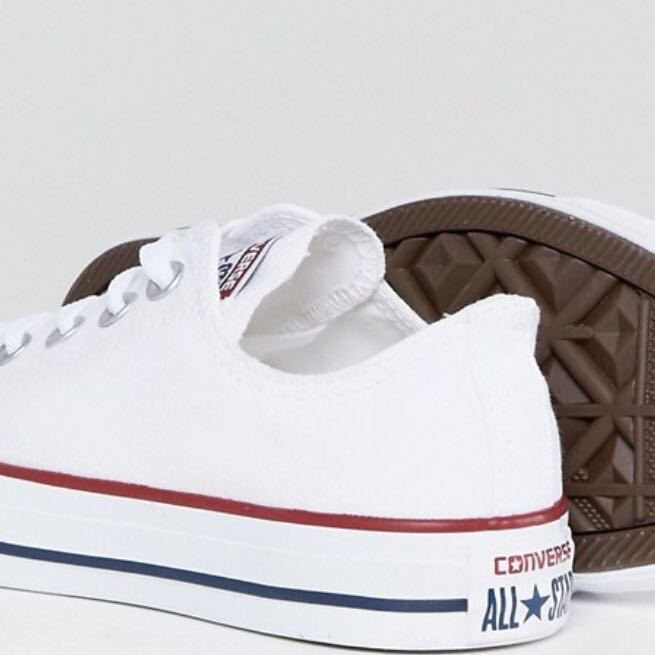 cd54d5b04616af CONVERSE Chuck Taylor All Star Core White Ox Trainers