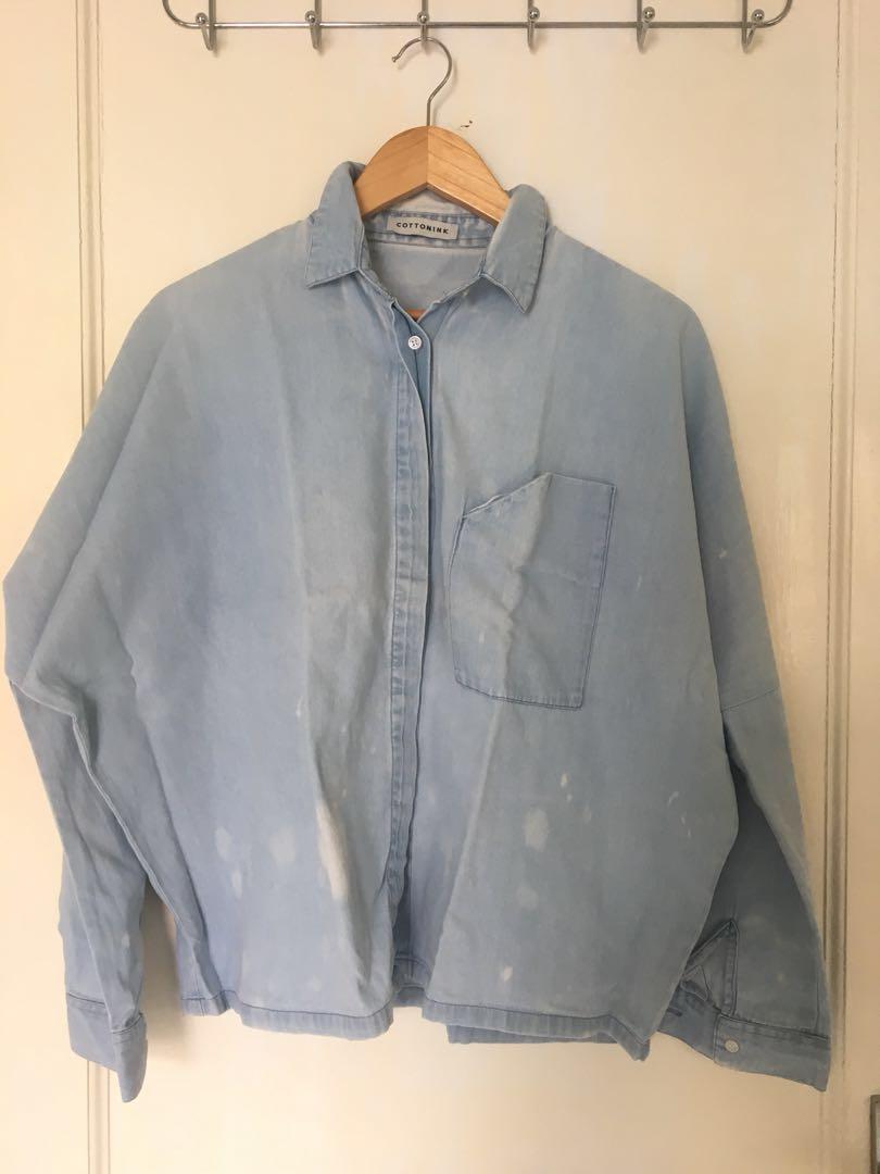 0c9a2519b9 COTTONINK Washed Out Denim Shirt