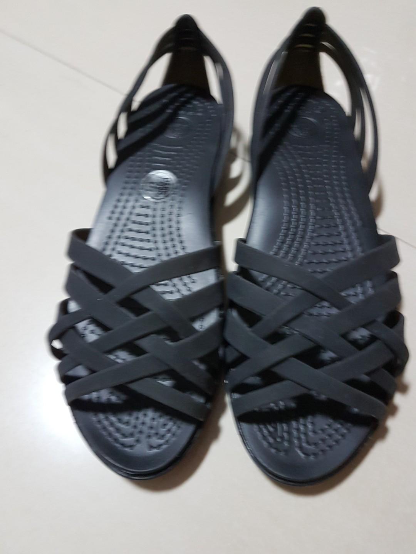 bd8e20861 Crocs huarache black sandals shoes