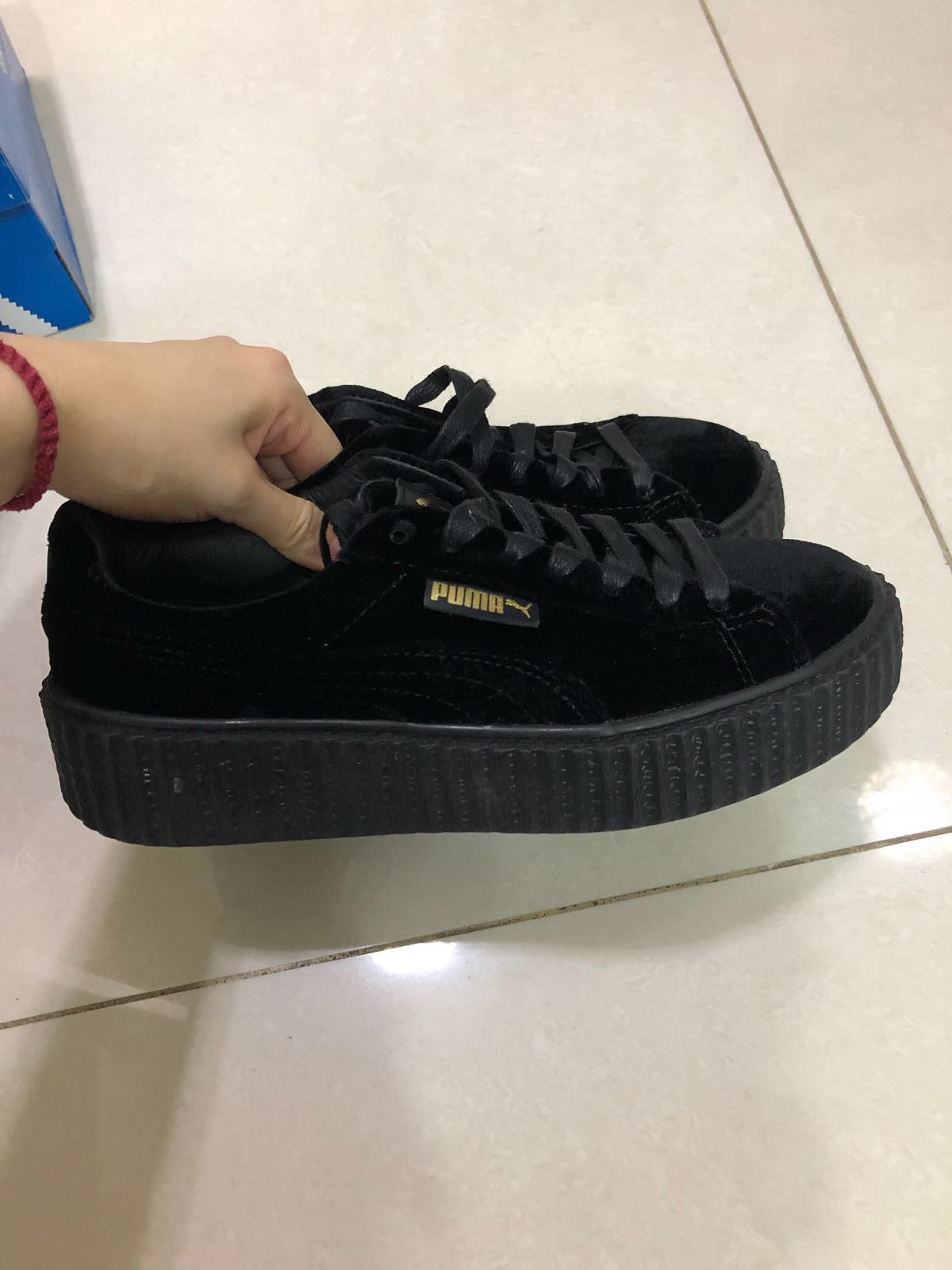 wholesale dealer 954df 7bef6 Fenty x Puma Creepers Velvet, Women's Fashion, Shoes ...