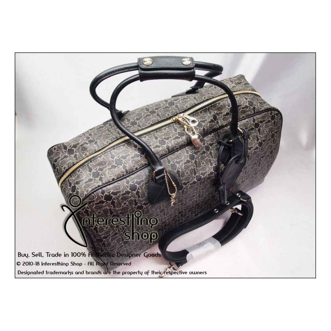 f691f00bf46c SOLD  -   4724-02. Authentic Celine Canvas Keepall 45 with Strap ...