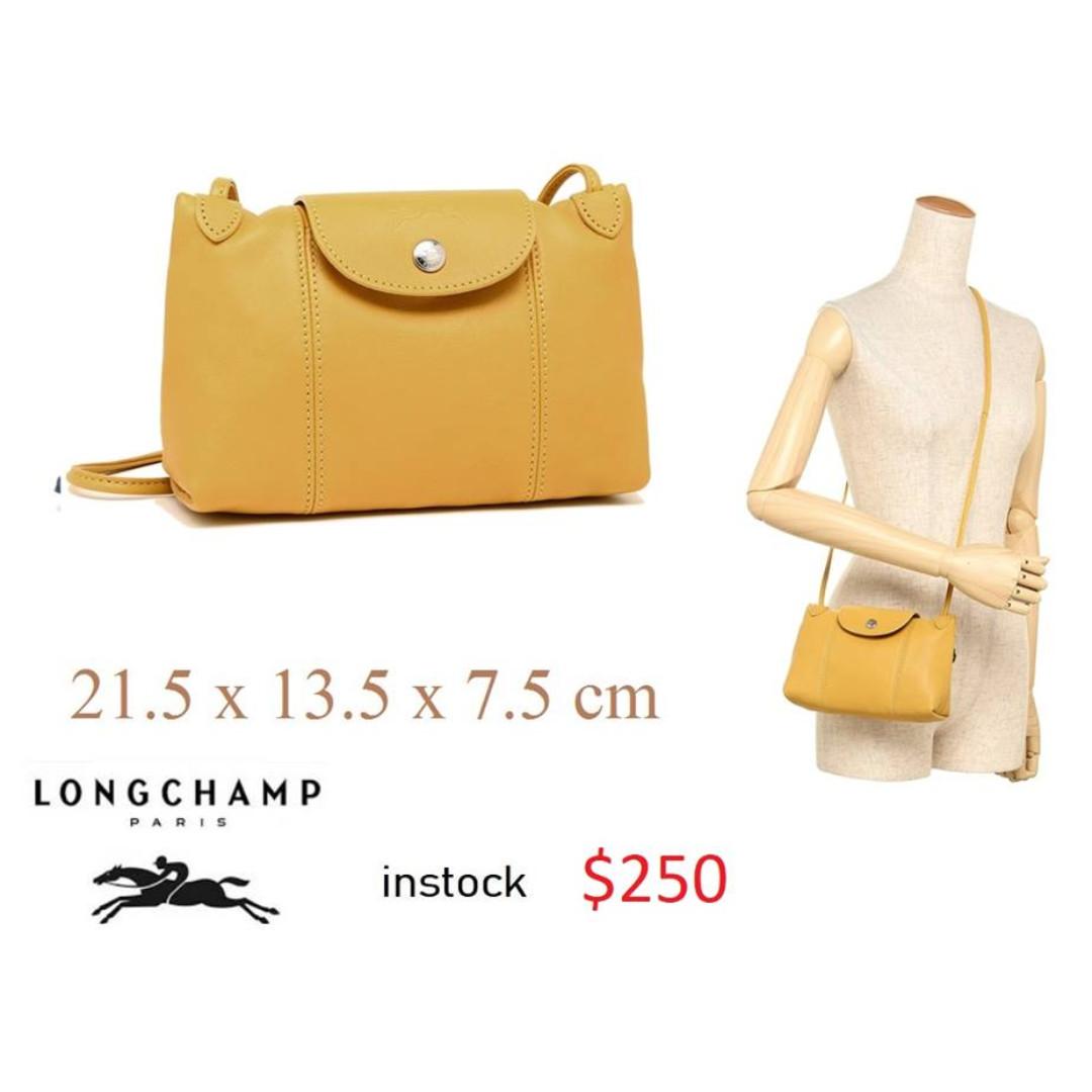 8299967d5cee Instock New Authentic LONGCHAMP LE PLIAGE CUIR CROSS BODY BAG shoulder bag  blue Full leather series 1061