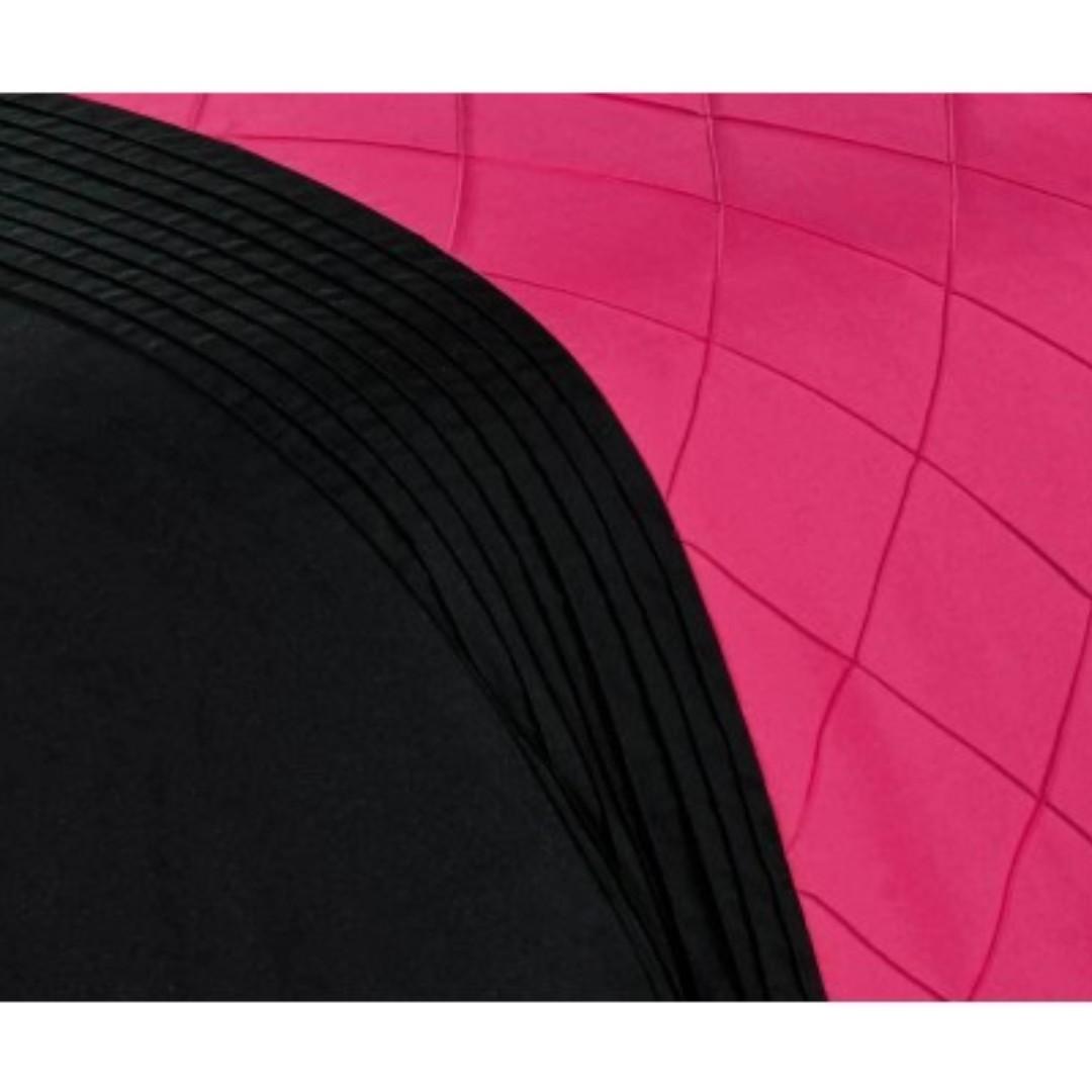 King Size Hot Pink Diamond Pintuck Quilt Cover Set(3PCS)