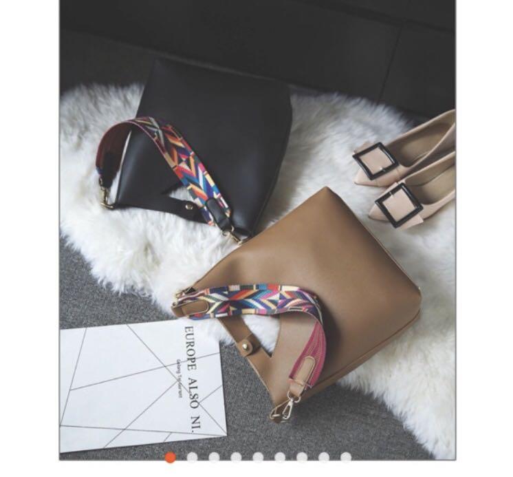 2b6e75642eb6 Korean trendy sling bag in black