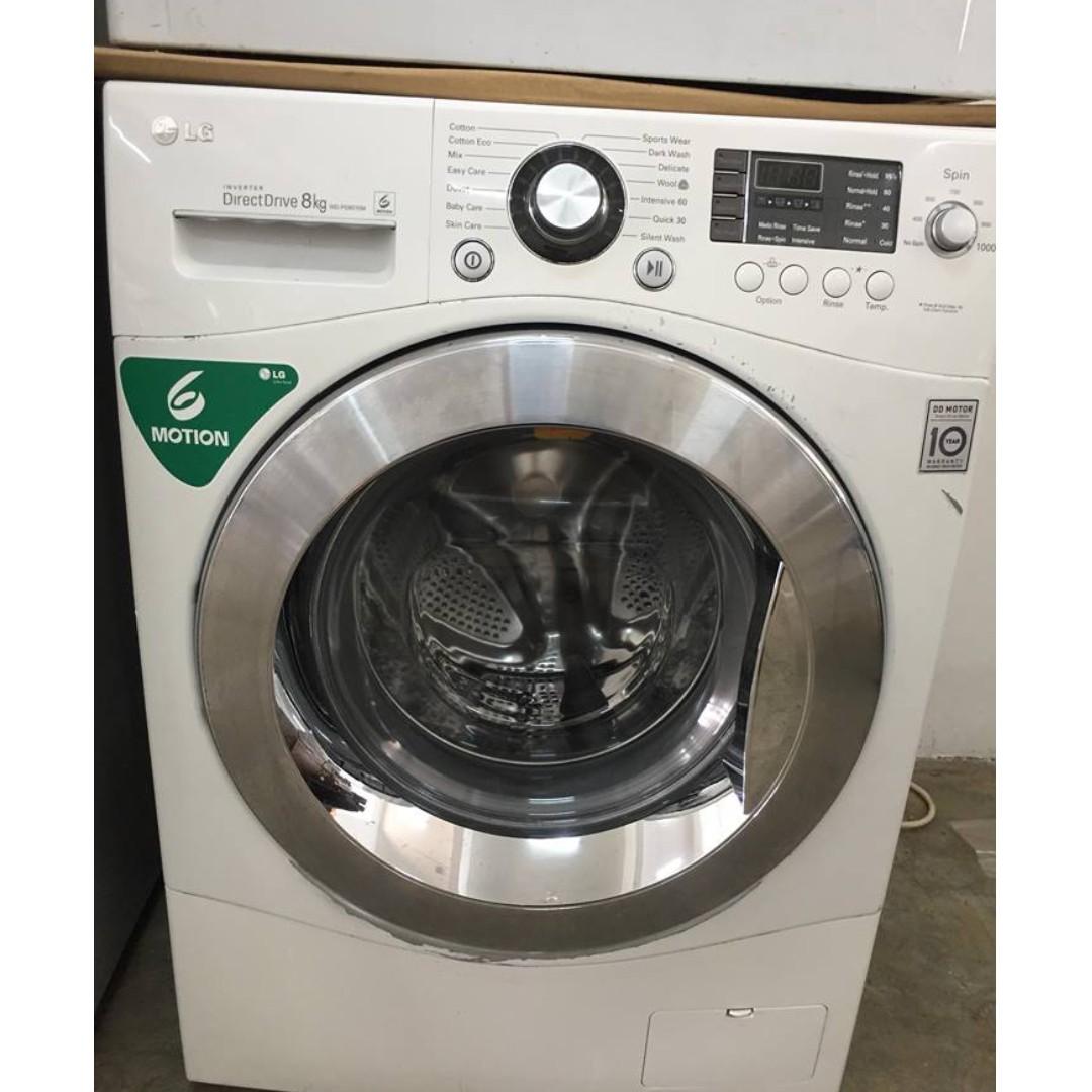 066c6d413e7e0c LG 8kg INVERTER Washer Front Load Mesin Basuh Recond, Peralatan ...
