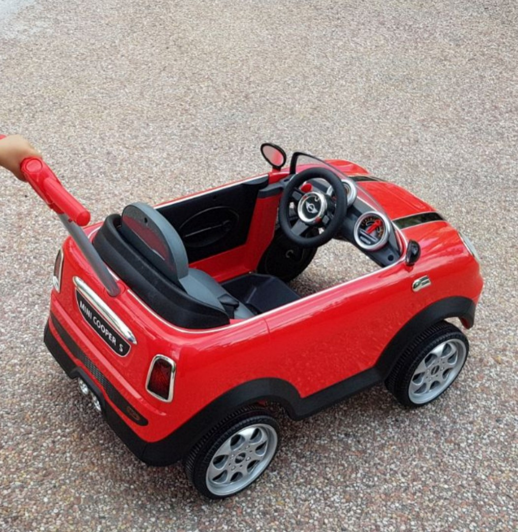 mini cooper car (push), babies & kids, toys & walkers on carousell