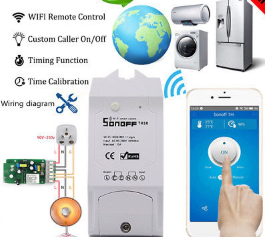 Sonoff Pow R2 wifi remote smart switch, Electronics, Others