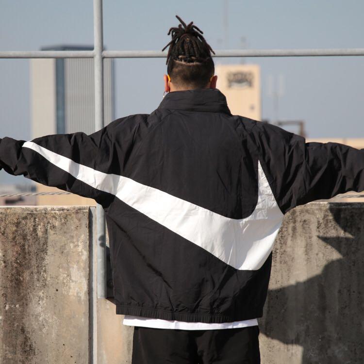 nike big swoosh anorak men 39 s fashion clothes tops on. Black Bedroom Furniture Sets. Home Design Ideas