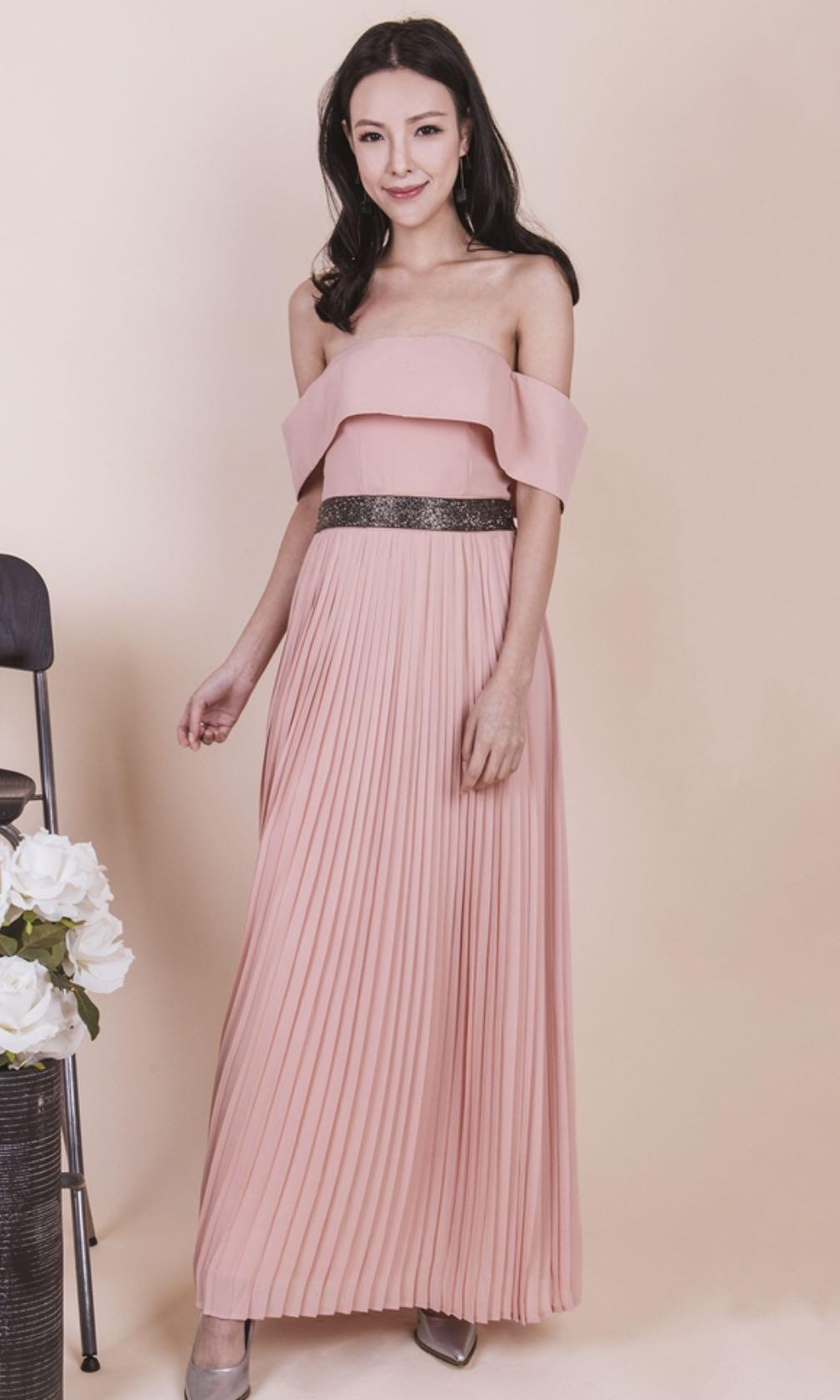 f05a65974a Ohvola Starry Night Pleated Maxi Dress