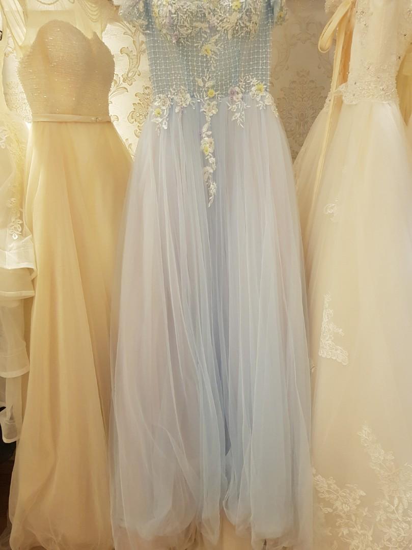PROMO $250 Pastel dior evening outdoor wedding bridal gown rental