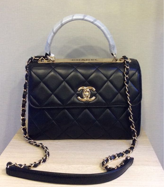4497a995b6b2fd Preloved Chanel Flap Bag with top handle, Women's Fashion, Bags ...