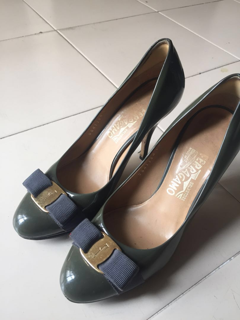 555877d5e3 Preloved Salvatore Ferragamo Pump Shoes, Women's Fashion, Shoes, Heels on  Carousell