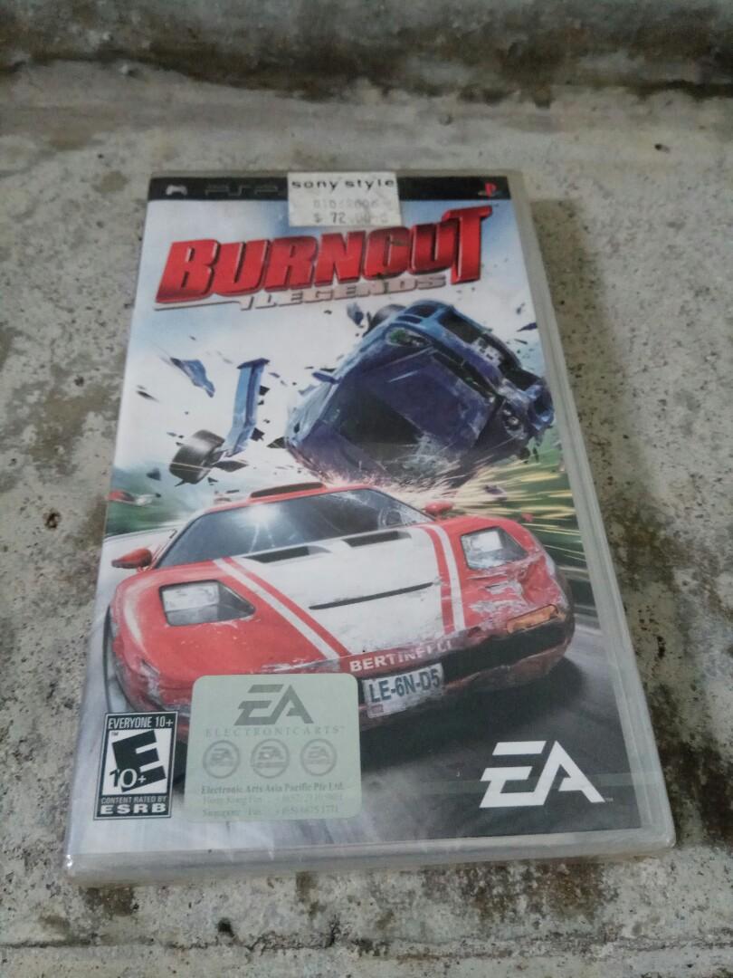 PSP Games Burnout Legends 4 Sale
