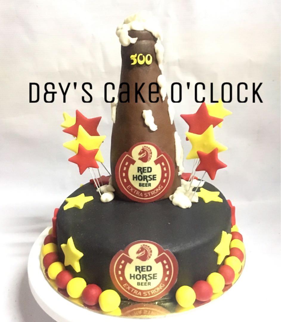Birthday Red Horse Cake Design
