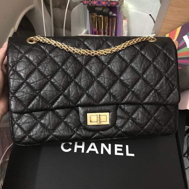 3d91a9edc326 💖REDUCED PRICE!💖Chanel Reissue 227 Black Distressed leather Ghw #15,  Luxury, Bags & Wallets on Carousell