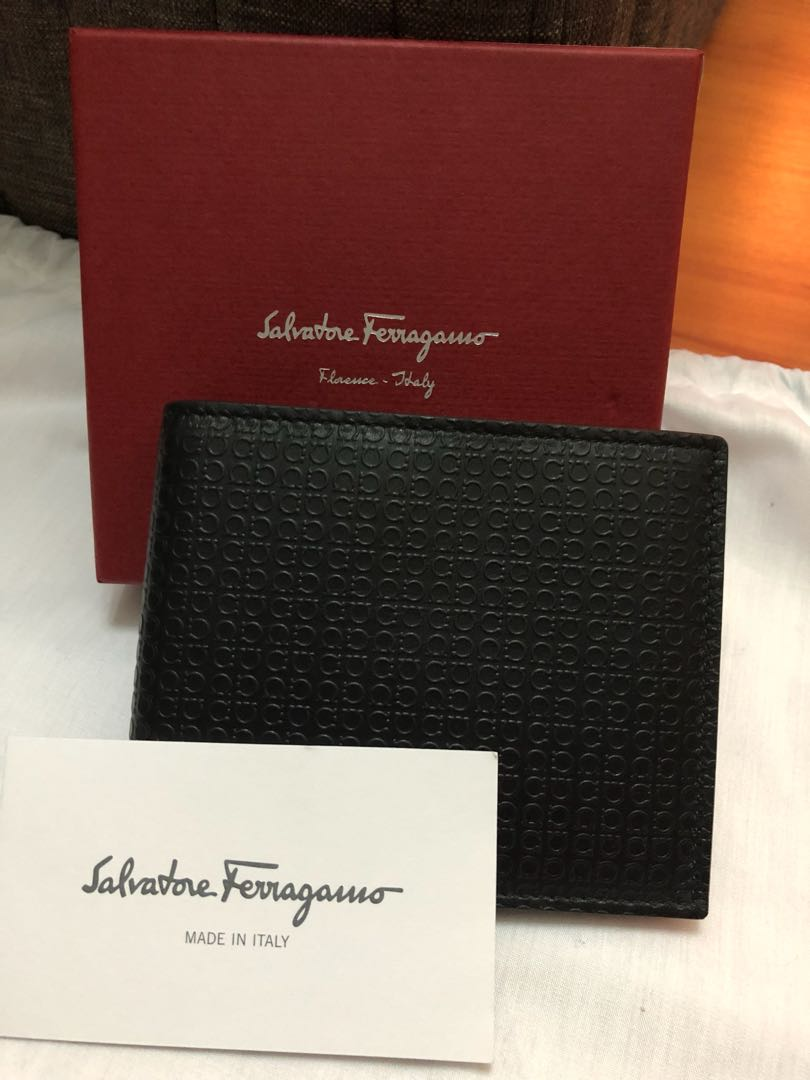 73fa76ad0fa3 Salvatore Ferragamo Mens Embossed Wallet with Coin