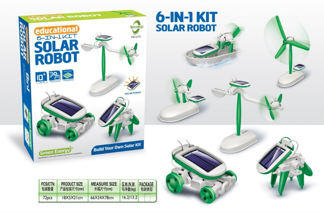 56891edb024 Solar Robot 6-IN-1 IQ Educational Kit, Toys & Games, Others on Carousell