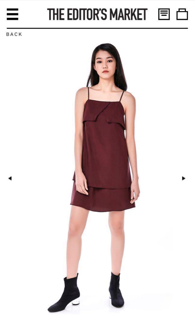 05c92a0f85a TEM Black Anika Layered Dress