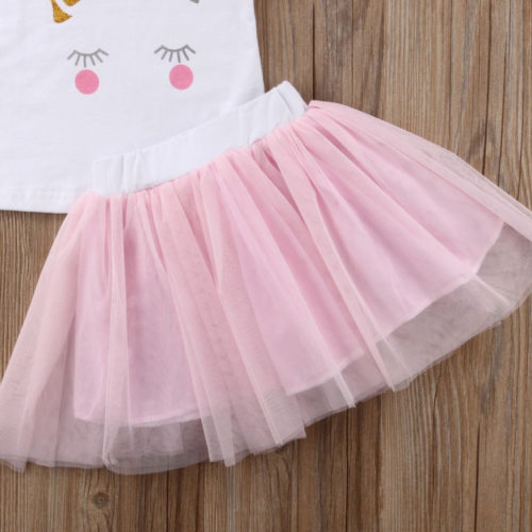 821343a93 Toddler Baby Kids Girls Rabbit Printed Clothes Top Short Lace Tutu Dress  Outfits, Babies & Kids, Girls' Apparel, 4 to 7 Years on Carousell