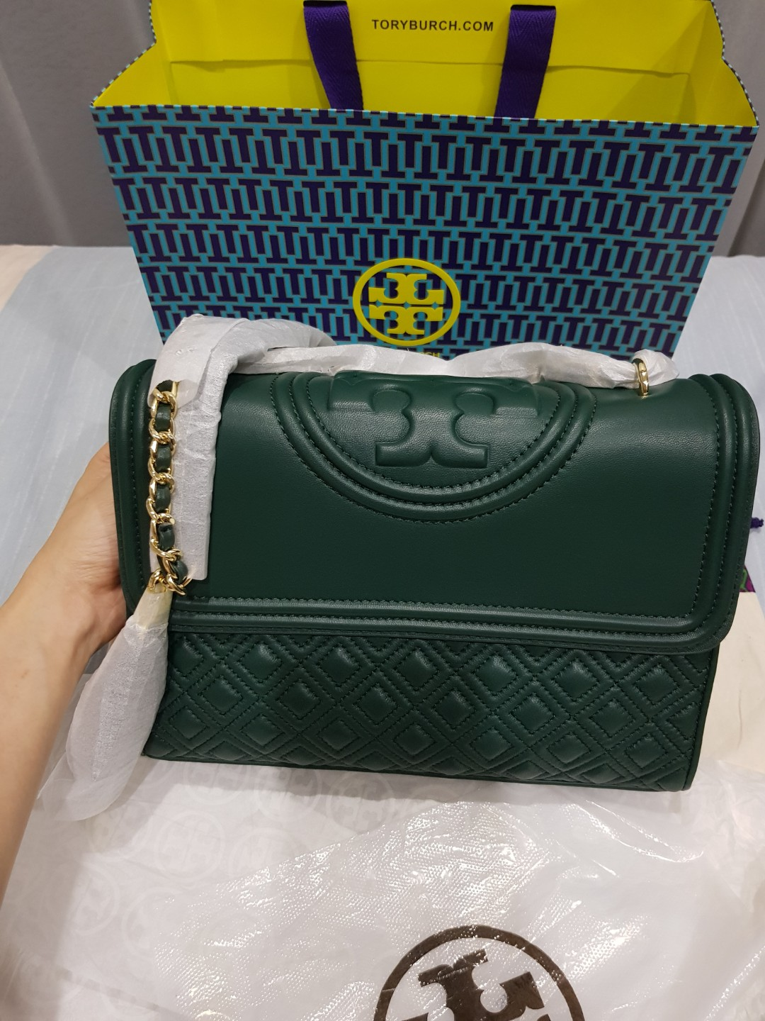Tory Burch Fleming Convert Medium Bag Luxury Bags Wallets Sling On Carousell