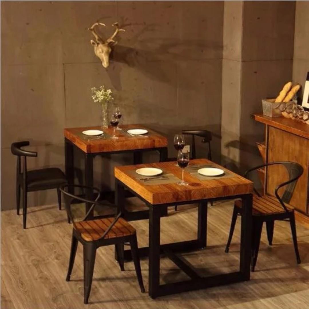 TSDT 001 Hari Raya Retro Solid Wood Coffee dining cafe table