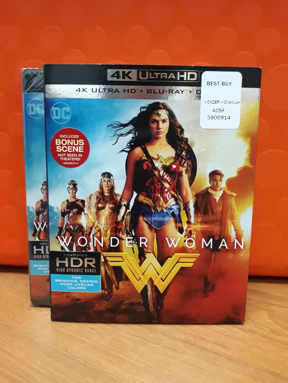 USA Blu Ray 4K UHD - Wonder Woman 4K (ATMOS), Music & Media